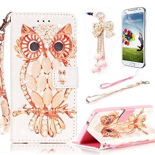 Coque pour Samsung Galaxy Core Prime, Sunroyal® 3D Bling Portefeuille Dragonne Etui Housse en Premium PU Cuir Livre Stand Case Cover Swag Téléphone ...