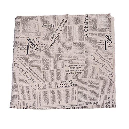 Souarts Textile Tissu Coton Lin pr DIY Patchwork Couture Motif Journal 97cmx50cm