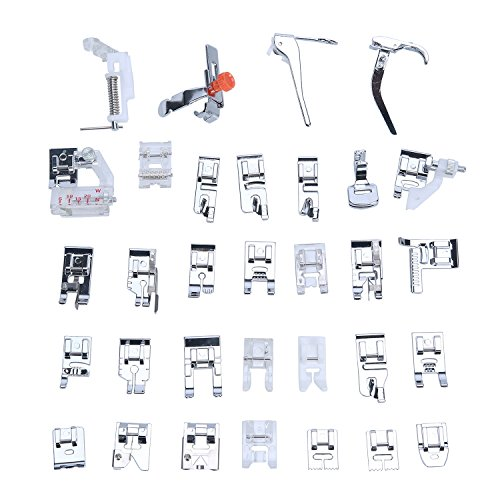 niceEshop(TM) Ensemble de Pied-de-biche pour Brother, Babylock, New Home, Janome, Elna, Toyata, Singer, Elna 0621033073597 niceeshop(TM)