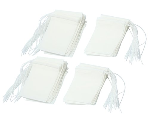 niceeshop(TM) Sachet de Thé Jetable en Papier Filtrant(Blanc, Taille de XS, Kit de 100) 0621033515677 niceEshop