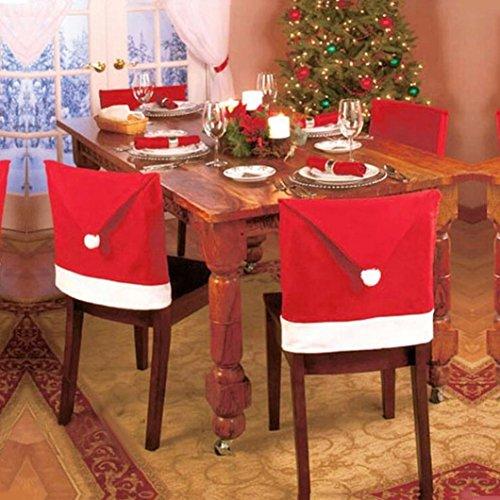 Noel bonnet chaise housse rouge (8pcs- 60*45cm) 0644741913757 Ouneed®