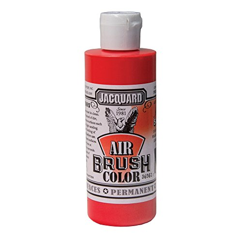 Airbrush Color Jacquard 4Oz Iridescnt Scarlet 0743772022305 Jacquard Products