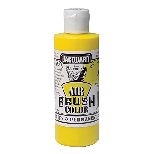 Airbrush Color Metallic Jacquard 4Oz Yellow 0743772230038 Jacquard Products