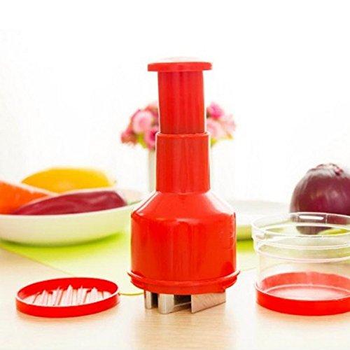 quickcor (TM) nouvelle pratique Coupe oignon ail légumes Presse Légumes Cuisine Gadget outil couleur aléatoire 20,5cmx8cm 0753760582452 Quickcor