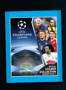 Ligue Des Champions Topps 16/17 Sticker Collect...