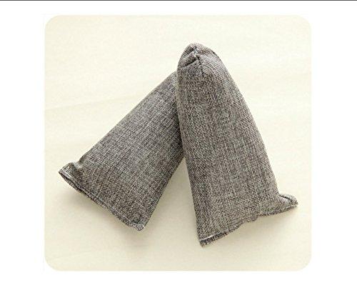 Natural air purificateurs sacs, désodorisant et désodorisant chaussures, odeur eliminator enlève odeurs pour réfrigérateur, congélateur, placard, voiture, 2 x 100g (gris) 0763769137331 DINHAND