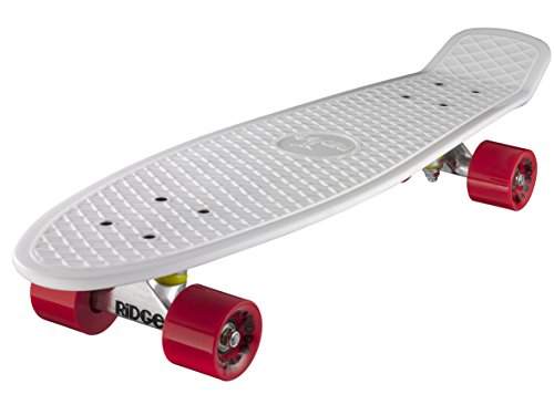 "Retro 27 skateboard complet blanc/rouge 27"" x 7,5"" - 69 cm"