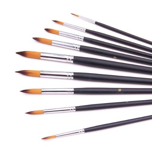 Boutique disacrea Lot de 12 pinceaux Plat N/°1//12 en Poil de Nylon Ultra Fin Pack de 30 12 cm
