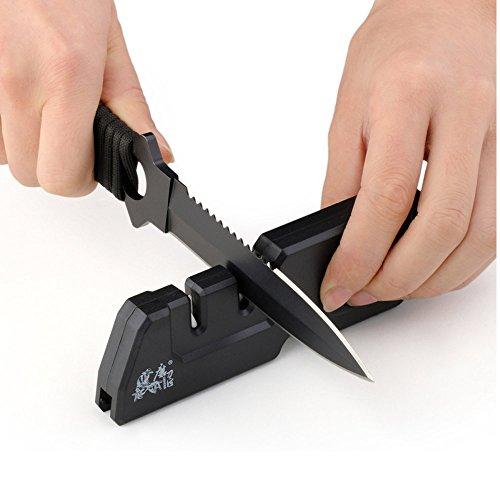 ablegrow (TM) Pierre à aiguiser taiea t1055tdc Couteau multifonctions Taille-crayon pour pierre à aiguiser en céramique en carbure portable extérieur Outil Accessoires cuisine 0798033312251 AbleGrow