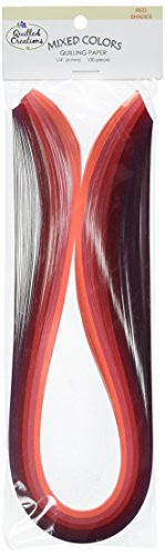 """Quilling papier mélangé de couleurs 1/4 """"100/Pkg-Red Shades 0877055016207 Quilled Creations"""