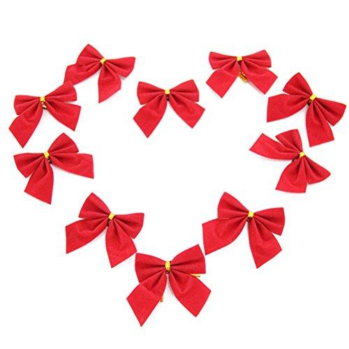 Nœuds et rubans arbre de noël ornement bow bowknot ruban décoration fête de noël/mariage/ 10 pcs 0889736561739 Tinksky