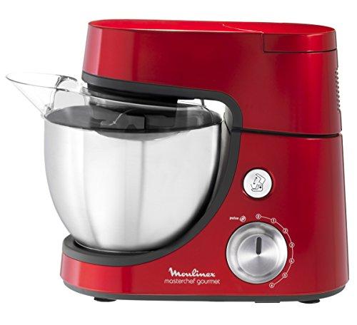 Qa507gb1 mc gourmet robot pâtissier avec hachoir rouge 3016661146336 Moulinex