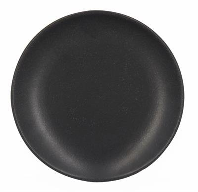 Assiette à dessert 20 cm en faïence ALFA noir mat 2513202 - réception - Lot de 6 3256390154831 Reception