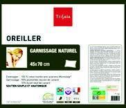 OREILLER GARNISSAGE NATUREL 60 X 60 CM 3601020040884 TISSAIA
