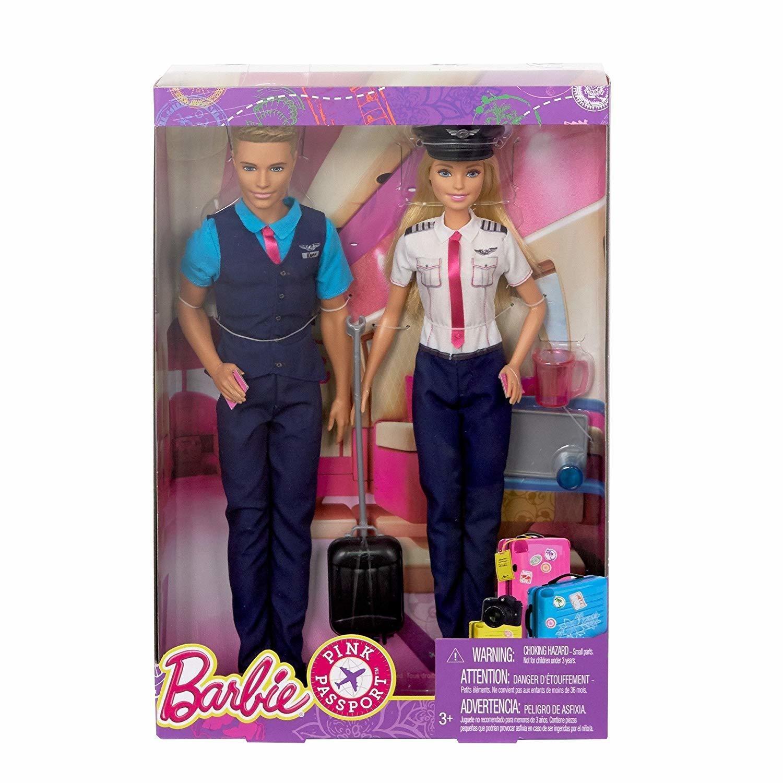 Poupée mannequin Barbie pilote et Ken steward BARBIE 3616180432530 BARBIE