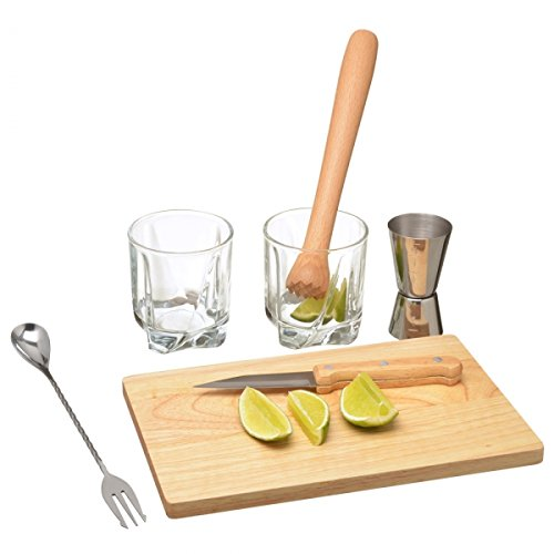 Set Cocktail Caipirinha 2 verres 1 verre doseur...