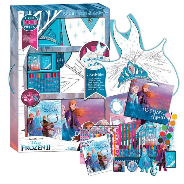 Set De Coloriage Géant Frozen Ii 3760167624002 Zounko