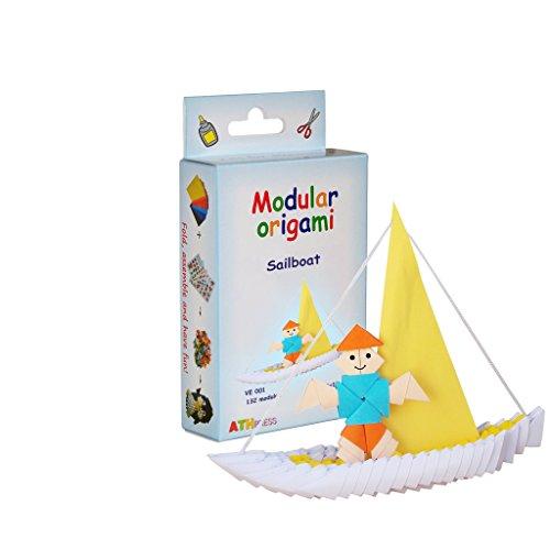 3800232242585 Modular Origami Crfq0 84 Lot De 132 Voilier Origami Kits Transparent 16 X 9 X 3 Cm 1 Vendeur