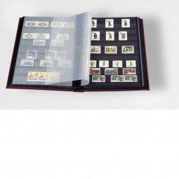 Leuchtturm Classeur philatelique a feuilles fixes 64 pages noires couleurs assorties A4