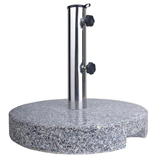 Nexos trading pied de parasol rond en granite 20 kg 4260349672368 Anaterra