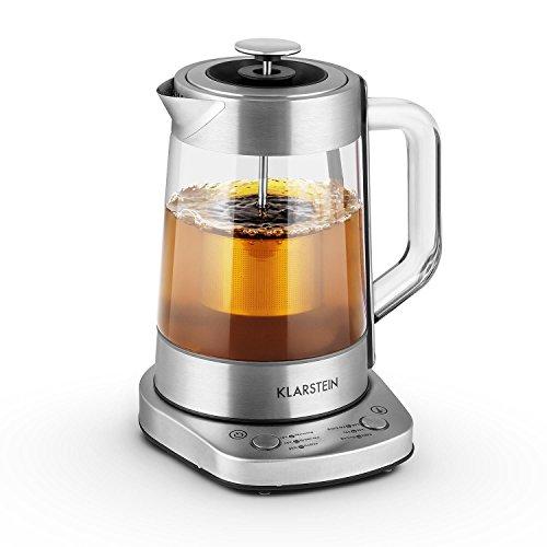 Assam express - bouilloire / théière électrique de 1,5 litre et 1500w de puissance - réglages de températures sur 6 niveaux pour différentes sortes de thé, passoire à thé incluse 4260440454498 Klarstein