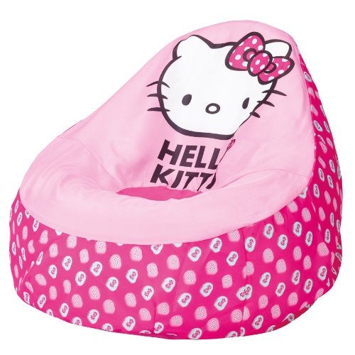 864736 moderne poire gonflable hello kitty polyester rose 78 x 78 x 68 cm