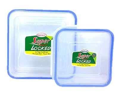 Qualité alimentaire hermétique conteneurs en plastique transparent-Lot de 2850ml et 300ml 5055521860348 Super Locked