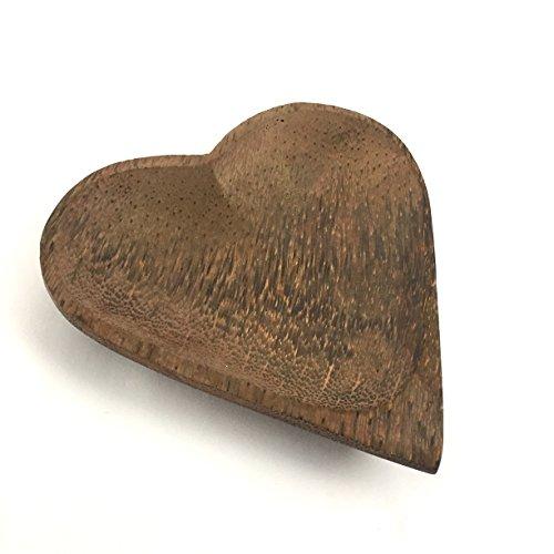 Cœur en bois de noix de coco Plat 19x 19x 19cm 5060480980617 Jak Jak Home