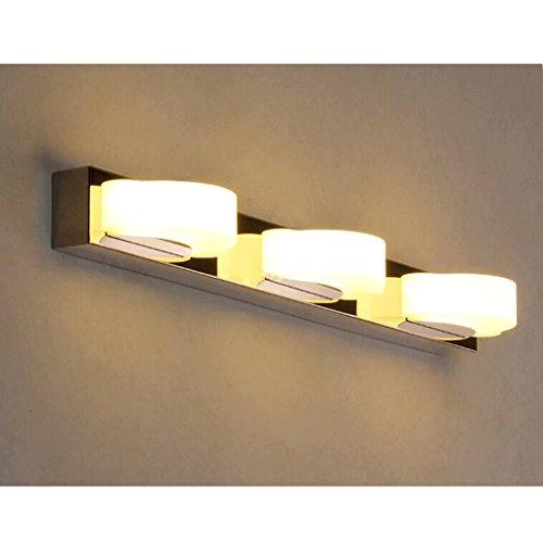 QZz salle de bain Anti-brouillard Miroir Lumières avant LED en acier inoxydable Lampe de mur ( couleur : Blanc chaud , taille : 9w48cm ) 5314169235421 QZz Eclairage pour coiffeuse