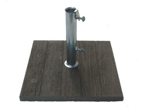 Art 304 pied en béton pour parasols, effet bois. poids kg 20. cm 50x50.made in italy 8020370211174 Maffei