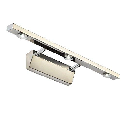 QZz salle de bain LED peut être étiré en acier inoxydable miroir feux avant ( taille : 3w40cm ) 8385050261604 QZz Eclairage pour coiffeuse