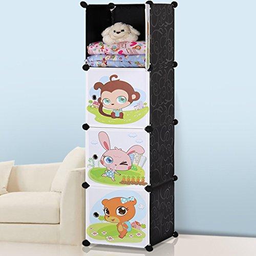 8676129369629 SUOERNUO Les armoires de rangement dessin animé bébé garde-robe de simples enfants ...
