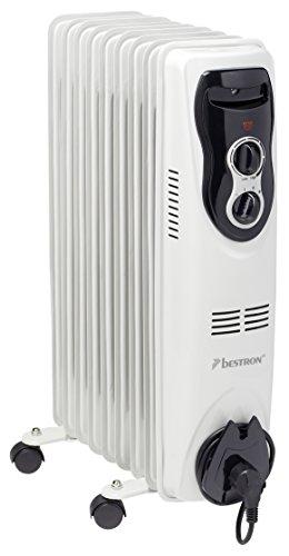 Aor9 radiateur à huile à 9 éléments 800 / 1200 / 2000 w blanc 8712184025664 Bestron
