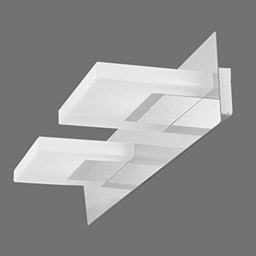 QZz salle de bain LED Moderne En Acier Inoxydable Miroir Lampe Cabinet Lampe De Mur ( couleur : Blanc , taille : 34cm ) 8884502478985 QZz Eclairage pour coiffeuse