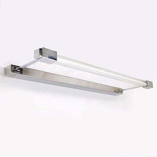 QZz salle de bain LED Mirroir Miroir salle de bains Minimaliste Miroir salle de bains Cabinet en acier inoxydable Rust-Fog Lamps ( taille : 6w53cm ) 9496123670786 QZz Eclairage pour coiffeuse