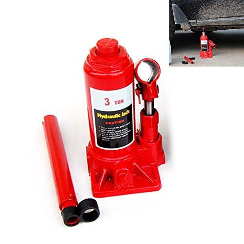 New 3 Ton bouteille hydraulique Jack Avec Levier / Bar CAR Stamp lifter Hydraulique voiture Ascenseur B01M9ED2TU logas